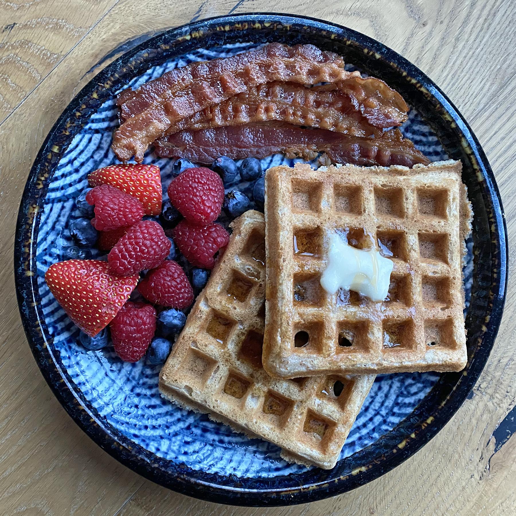 Maple Bran Waffles