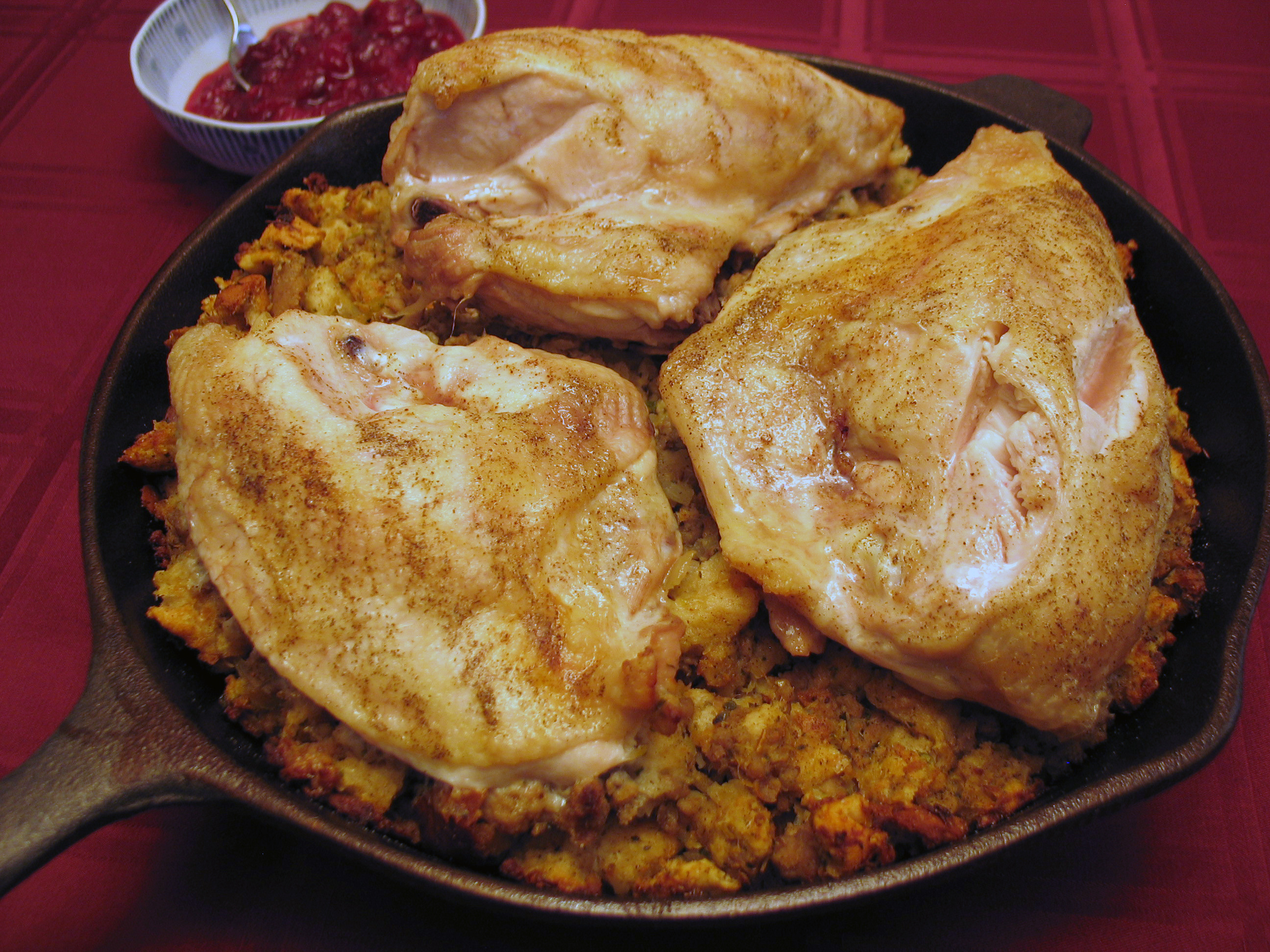 Cast Iron Chicken and Stuffing
