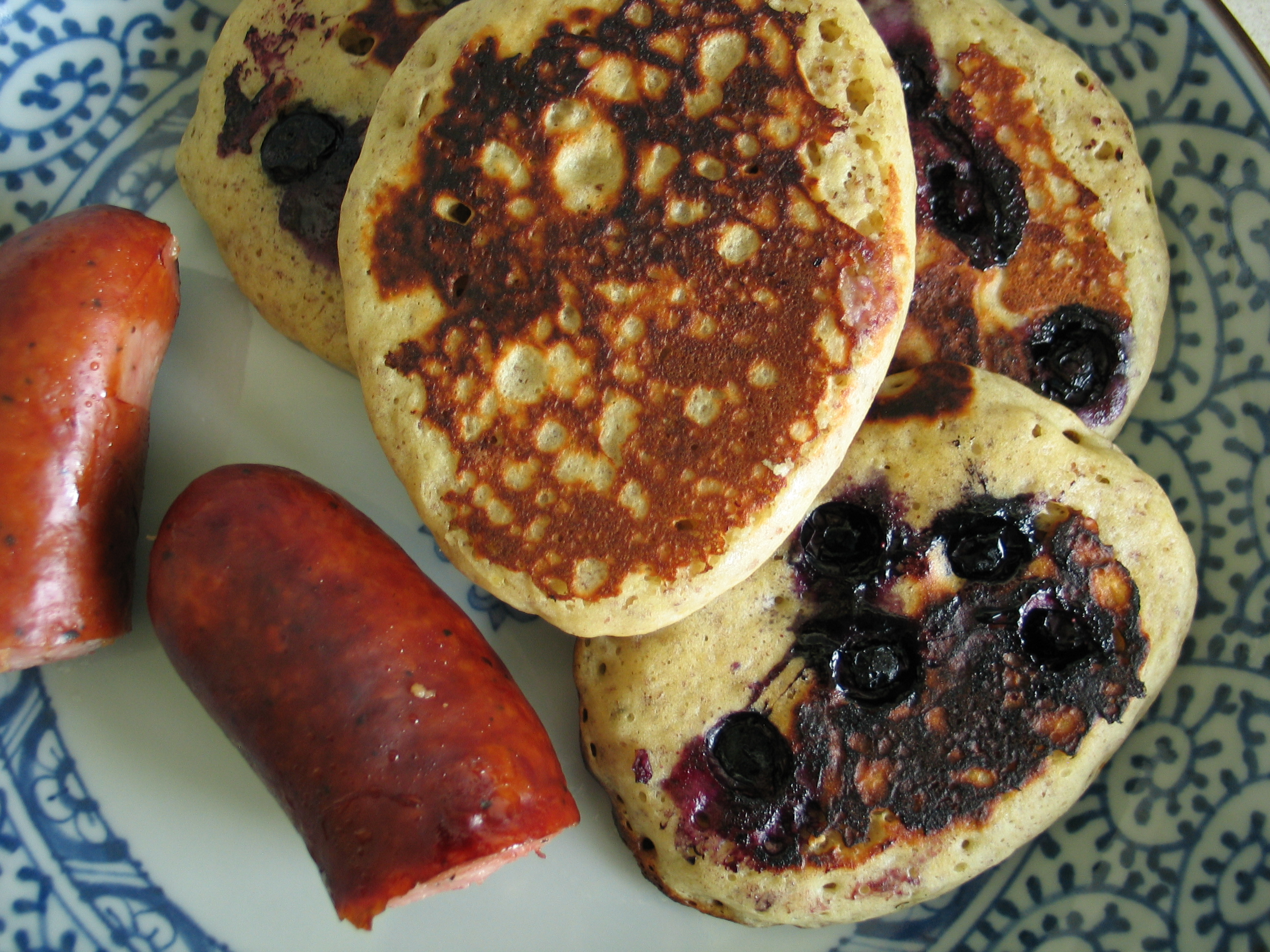 Quinoa, Flax (and Blueberry) Pancakes