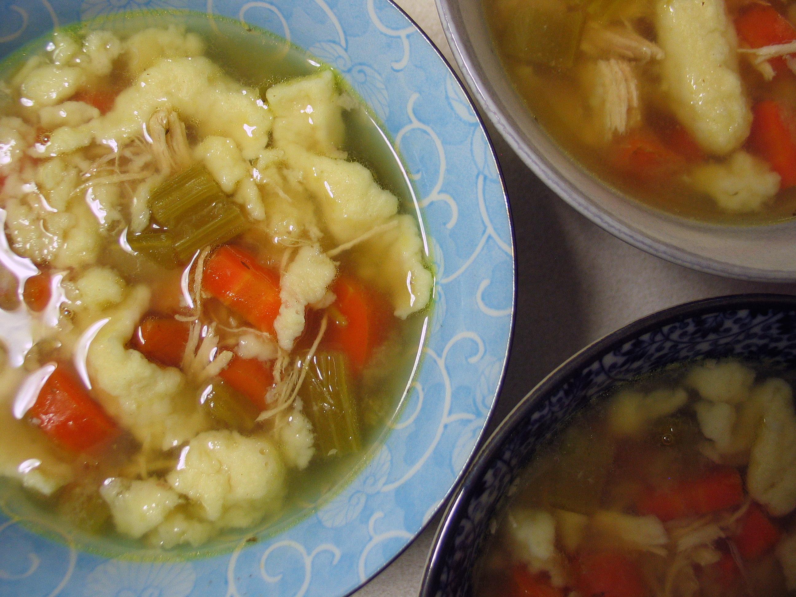 Chicken Soup with Einlauf (Noodles)