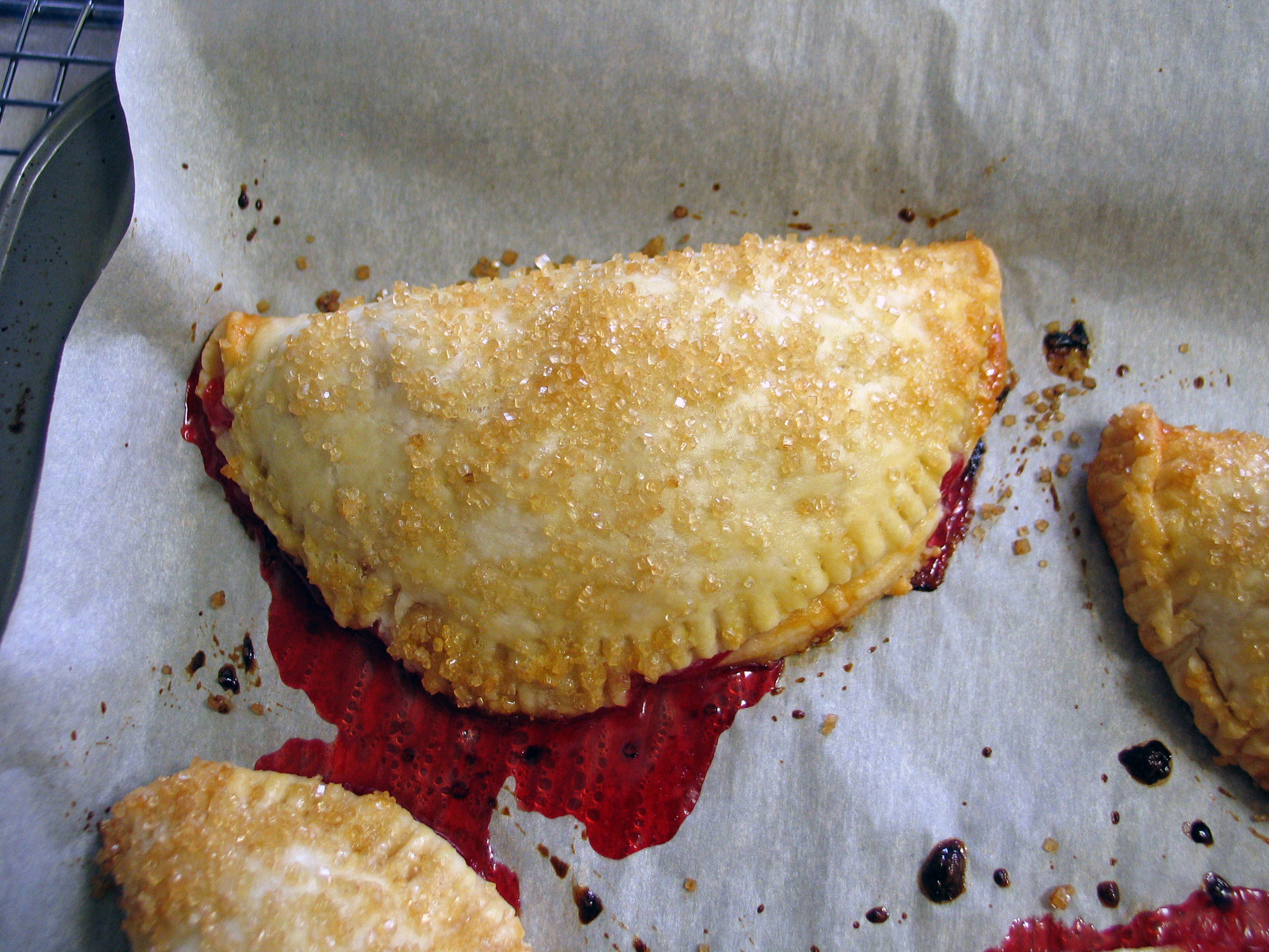 Strawberry, Rhubarb and Ginger Hand Pies