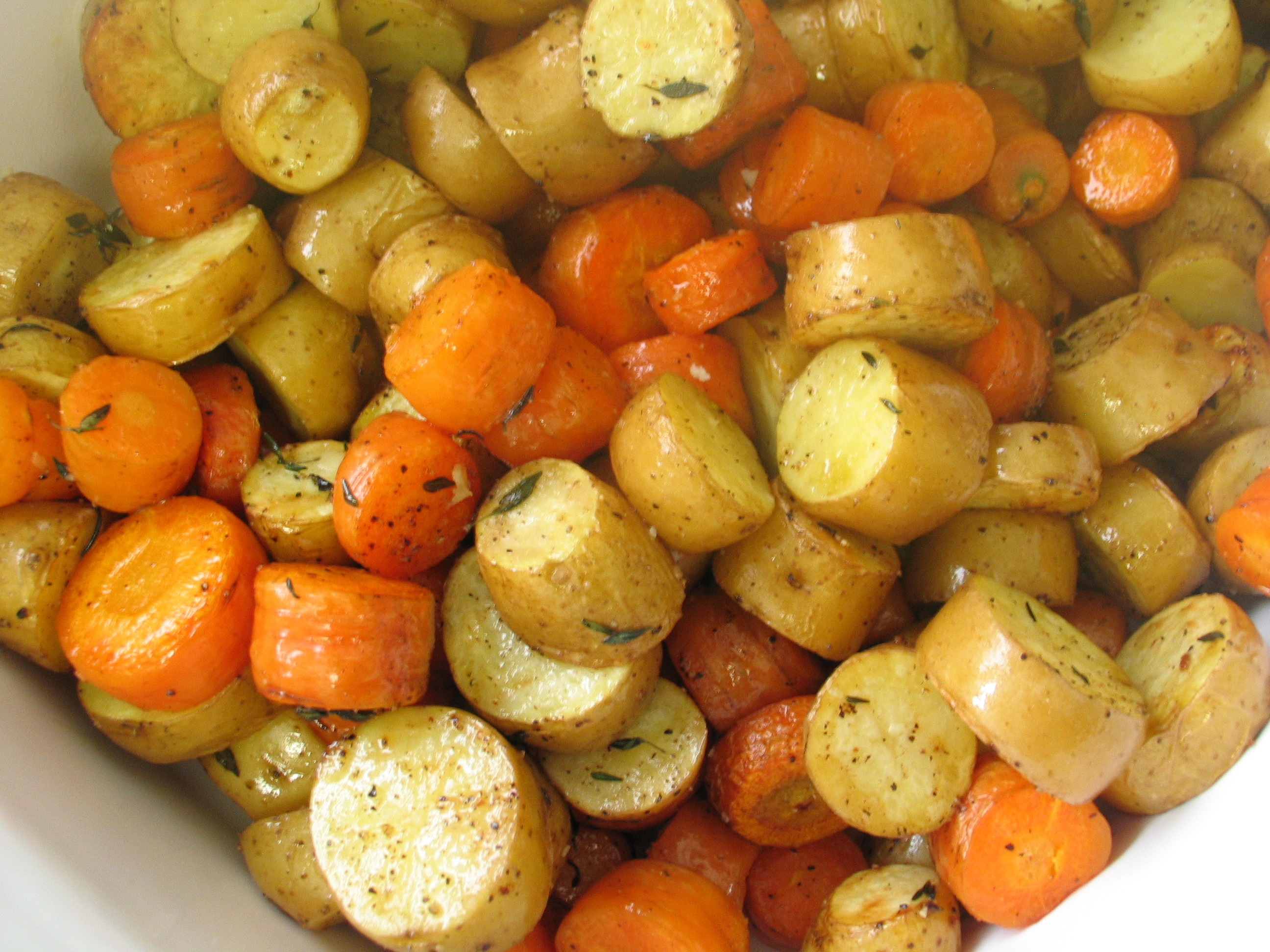 Roasted Fingerling and Carrot Coins