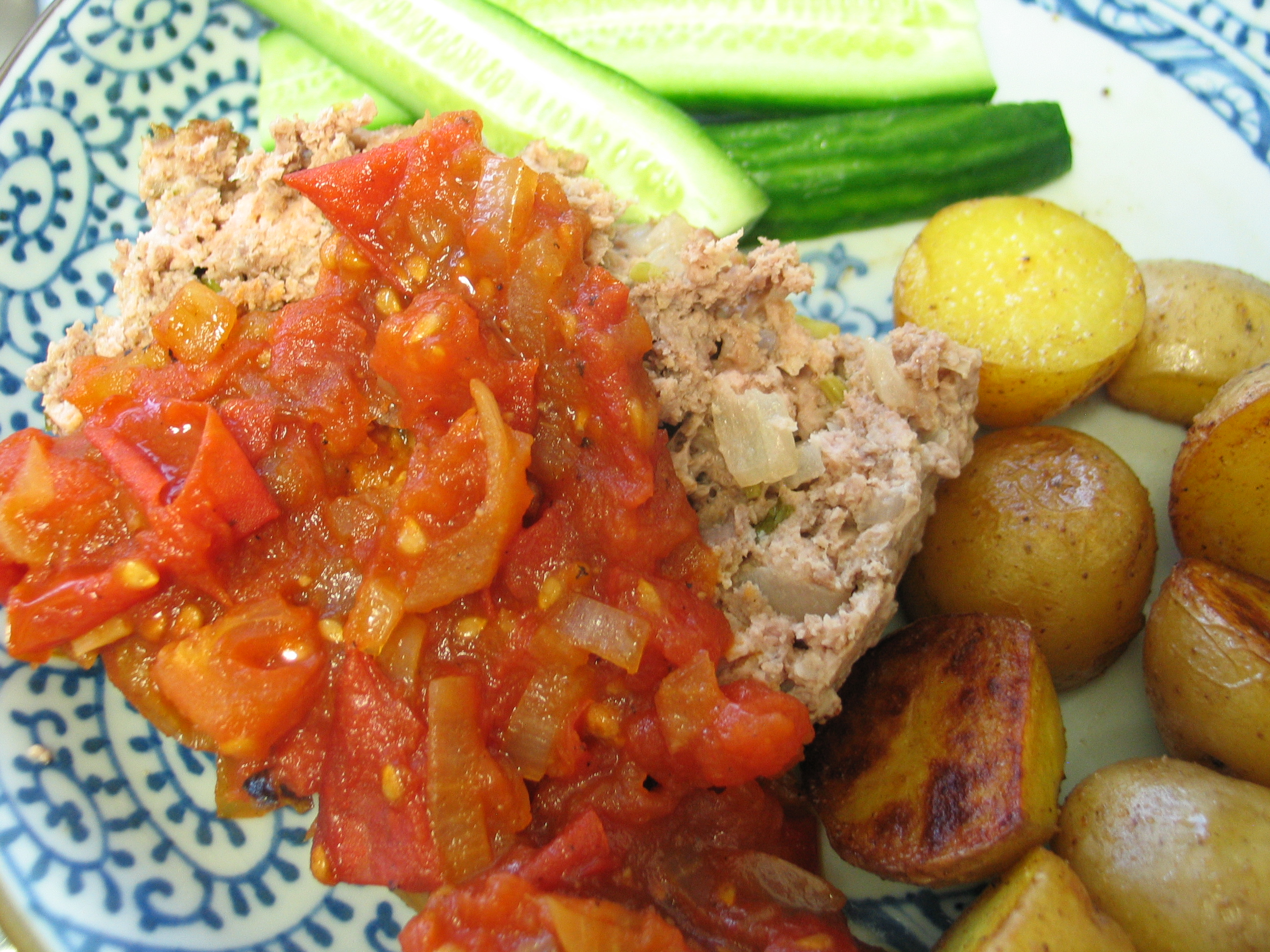 Meatloaf – Coriander (and Tomato Chutney)