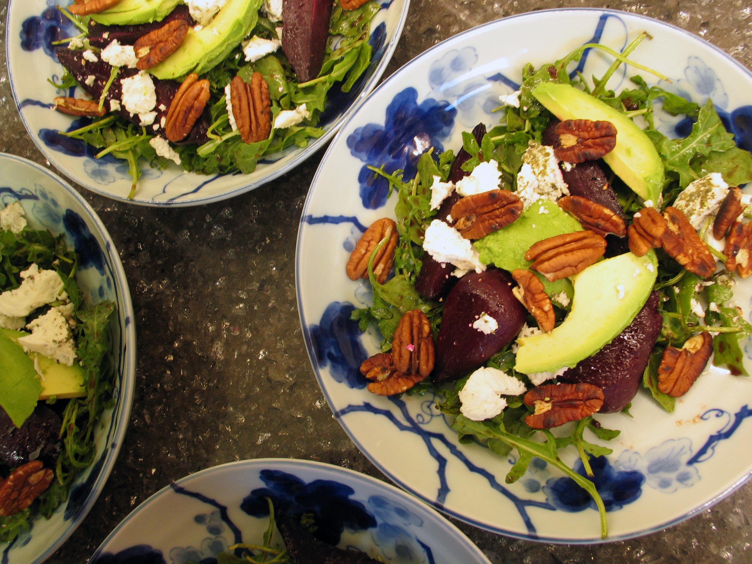 Beet, Goat Cheese and Arugula Salad