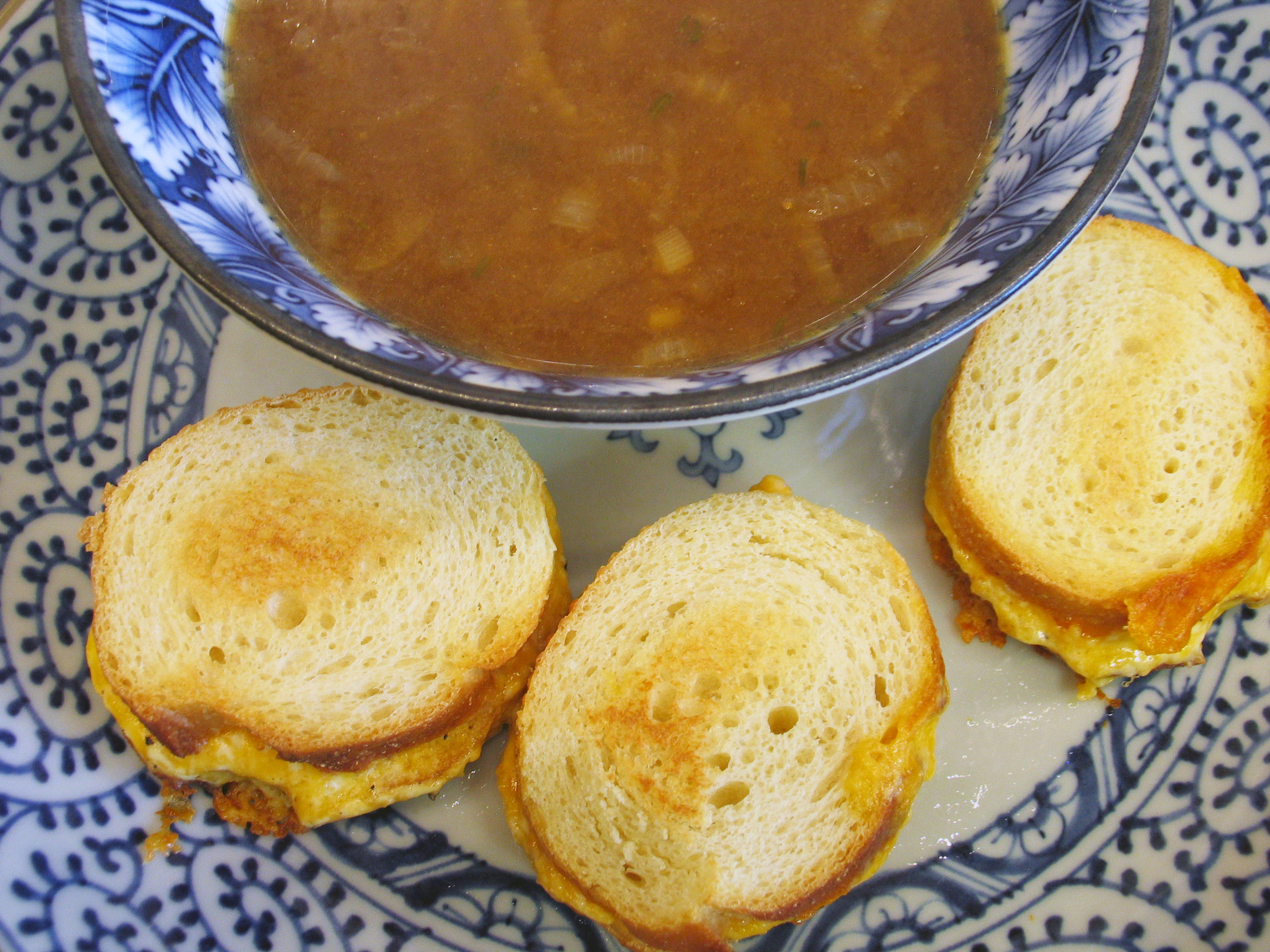 French Onion Soup (and Toasted Cheese Sandwiches)