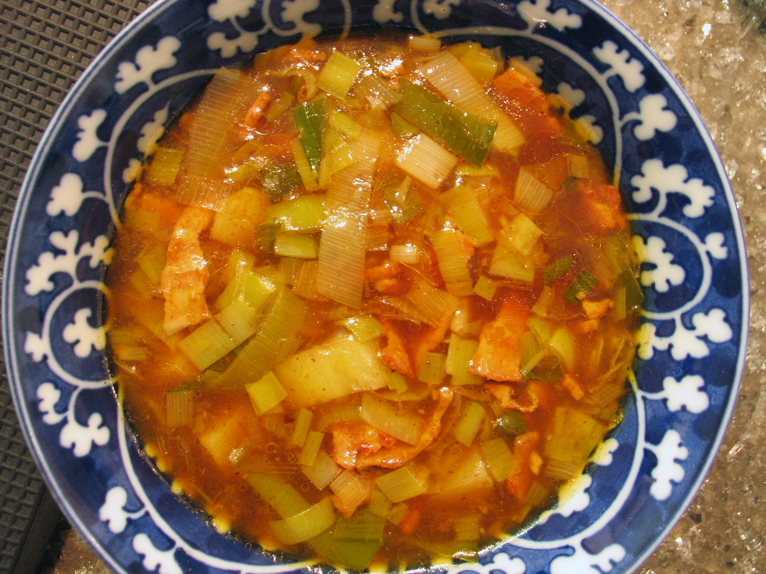 Potato, Bacon and Leek Soup