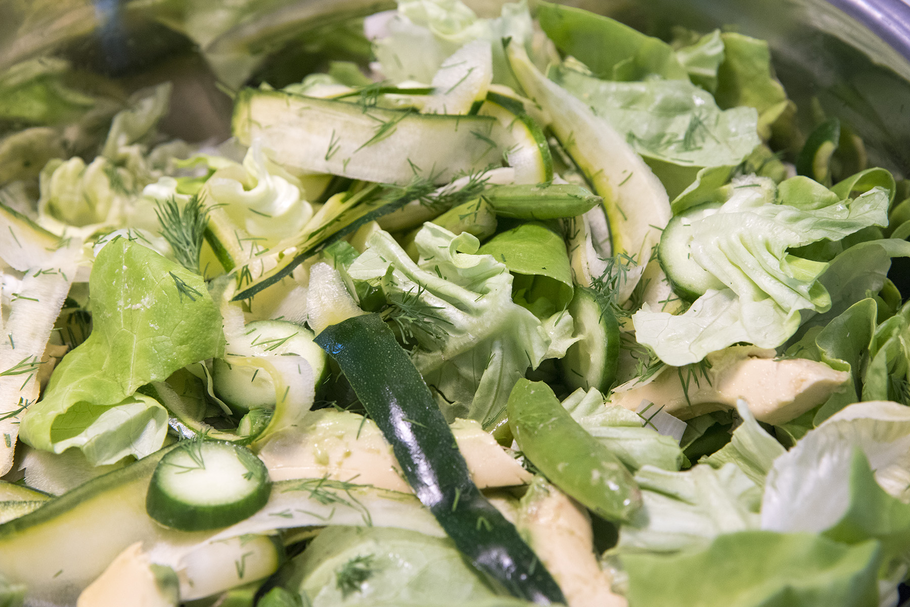 Everything Green Salad (with Green Goddess Dressing)