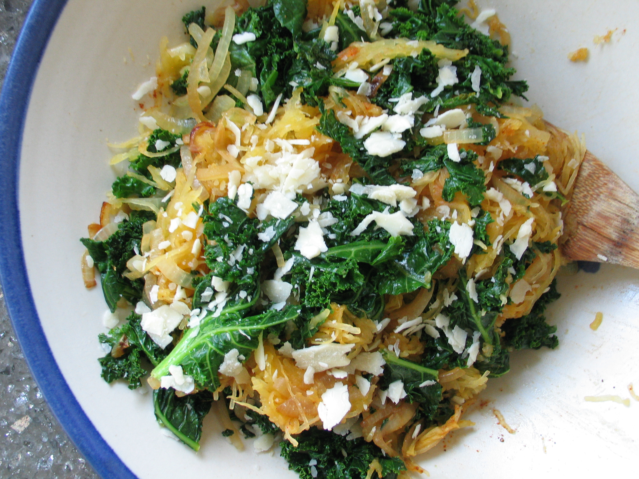 Roasted Squash and Kale