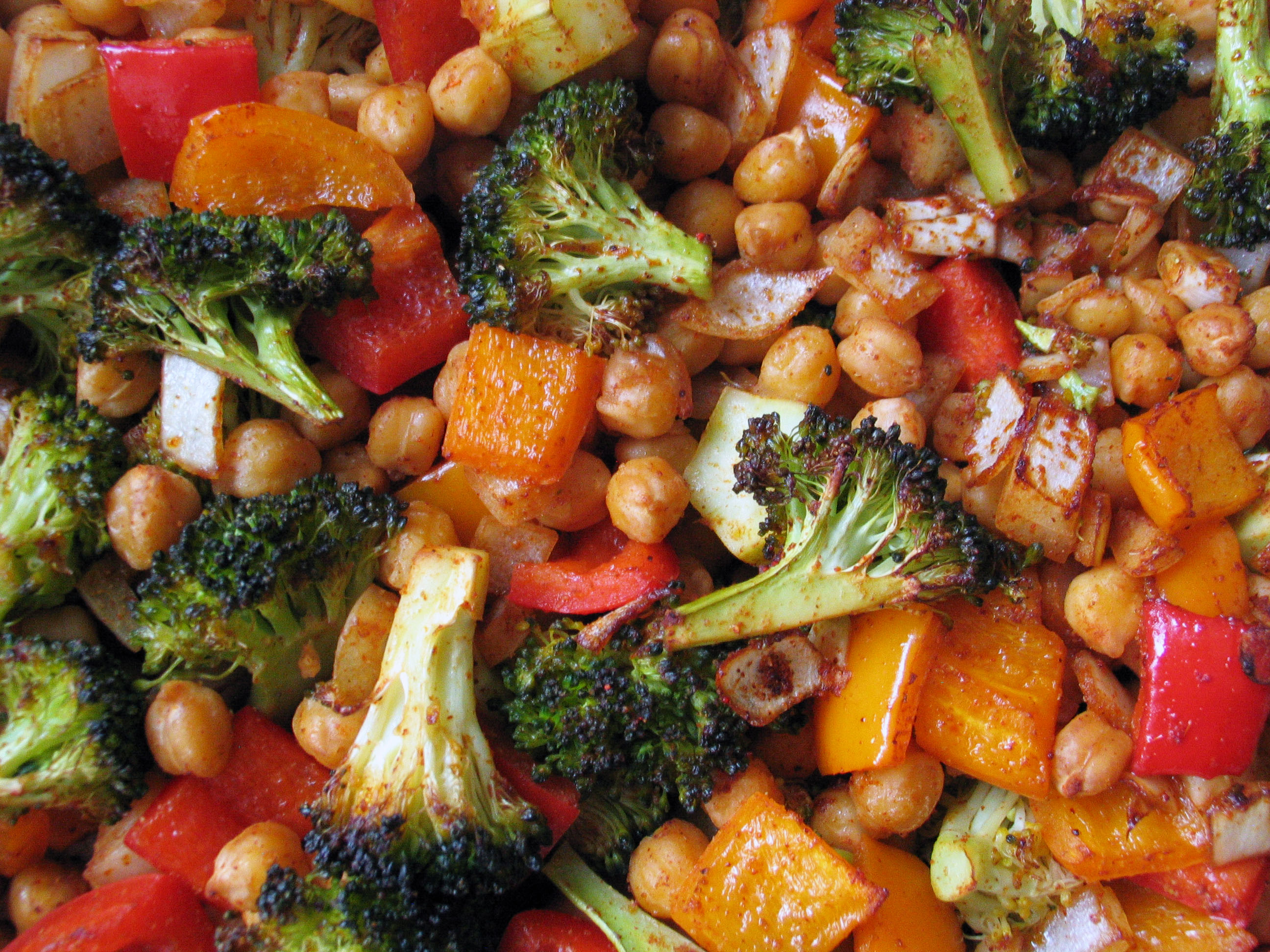 Roasted Broccoli and Chickpea Bowl (or Burrito)