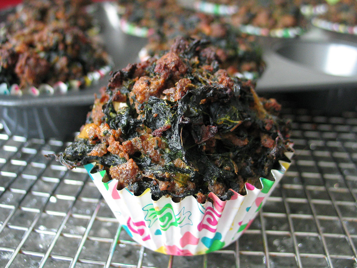 Meat and Spinach Muffins