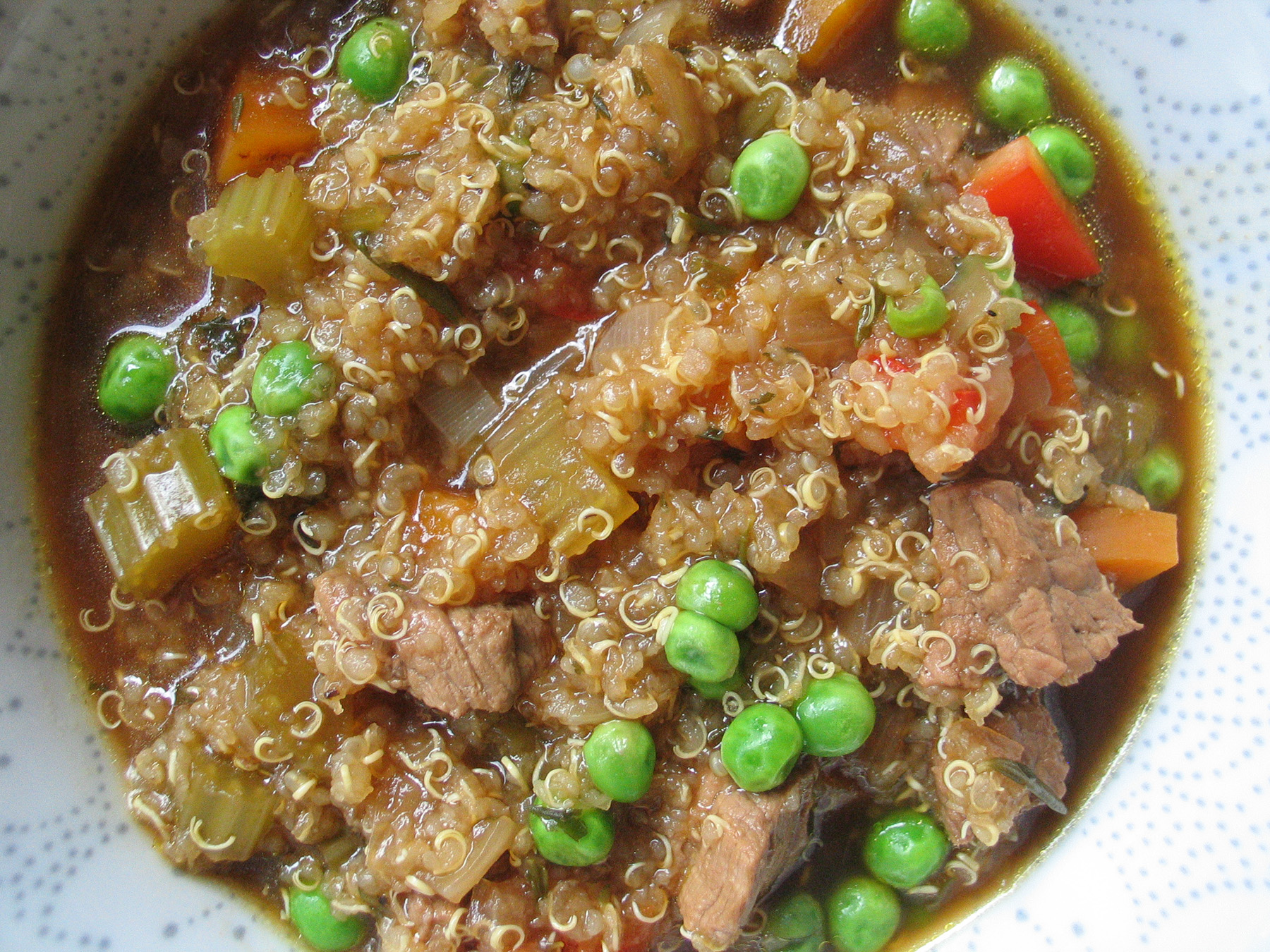 Beef, Vegetable and Quinoa Soup