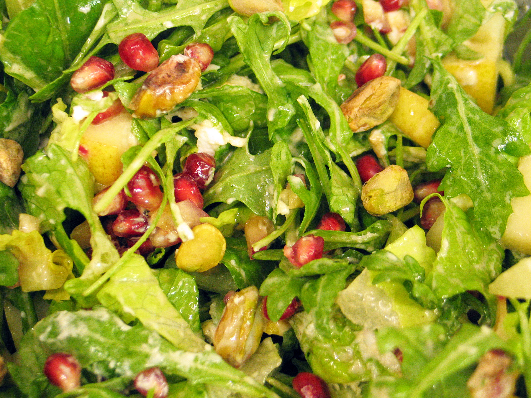 Arugula, Pear and Pomegranate Salad
