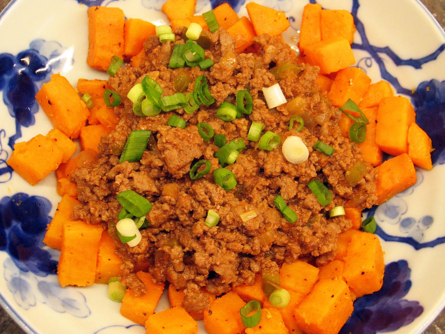Sloppy Joes (on Sweet Potatoes)