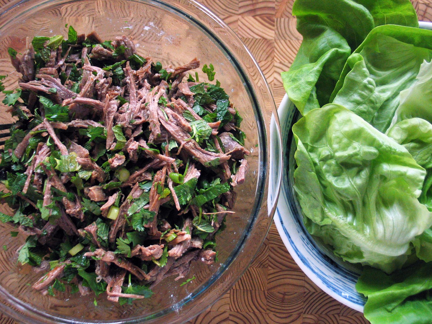 Flank Steak Salad (Lettuce Tacos)