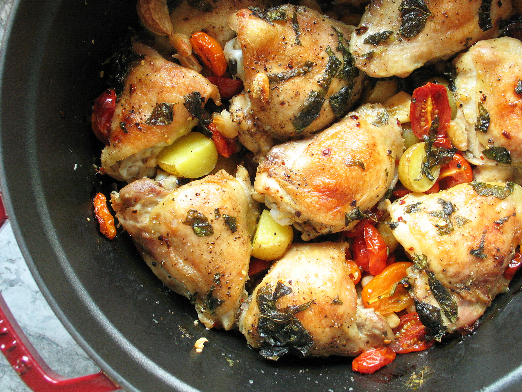 Jamie Oliver's Chicken with Tomatoes & Basil
