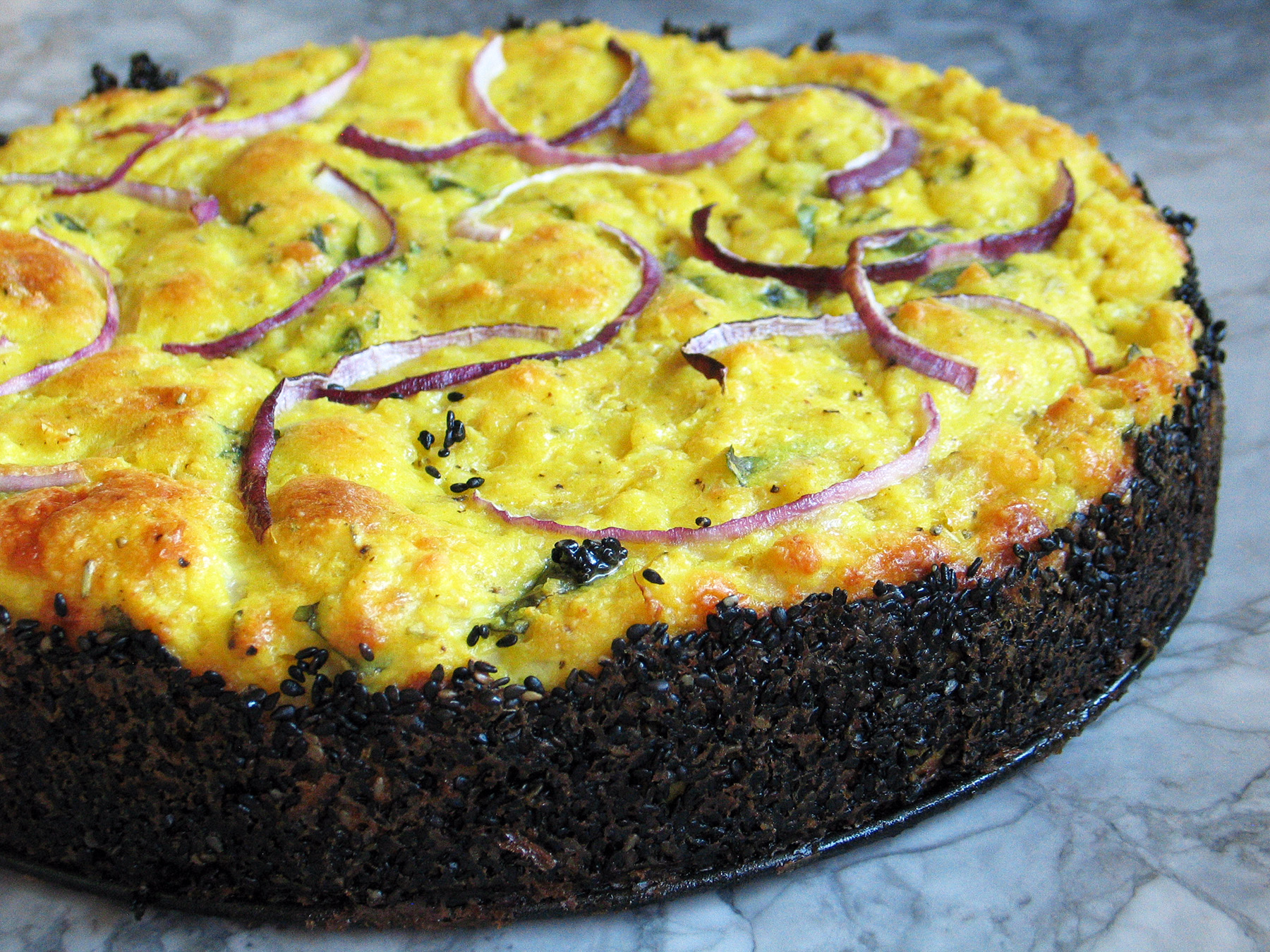 Cauliflower and Parmesan Cake