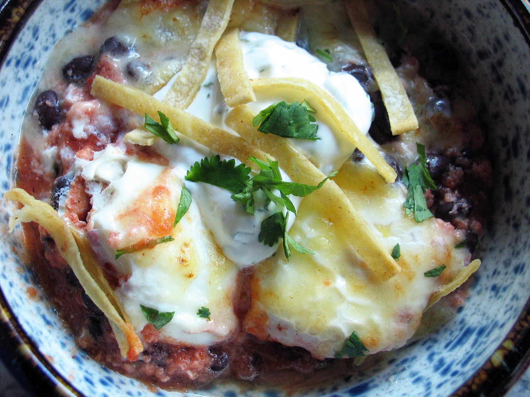 Smitten Kitchen's Baked Ranchero Eggs