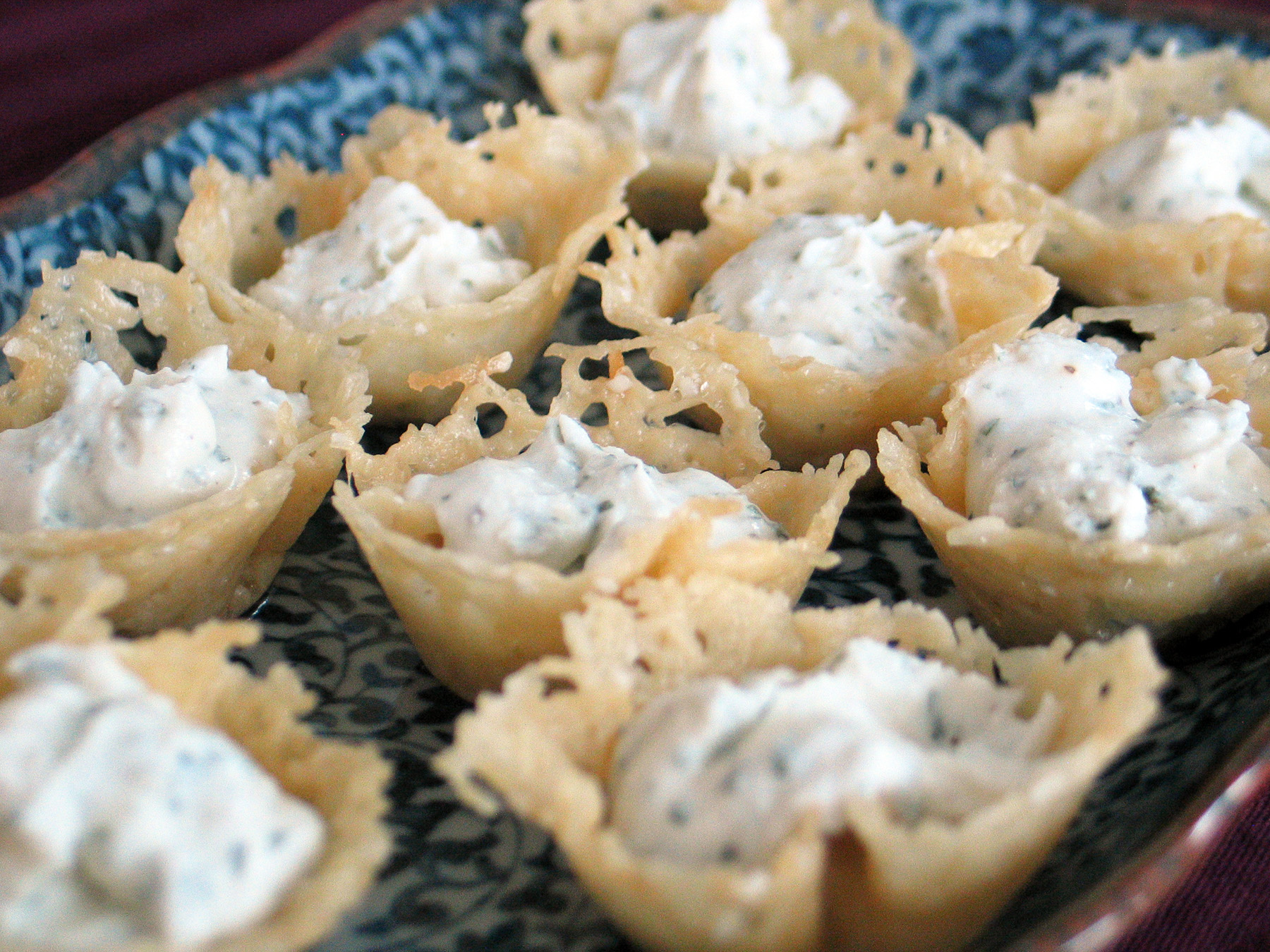 Anil's Cheese Crisps with Goat Cheese Mousse
