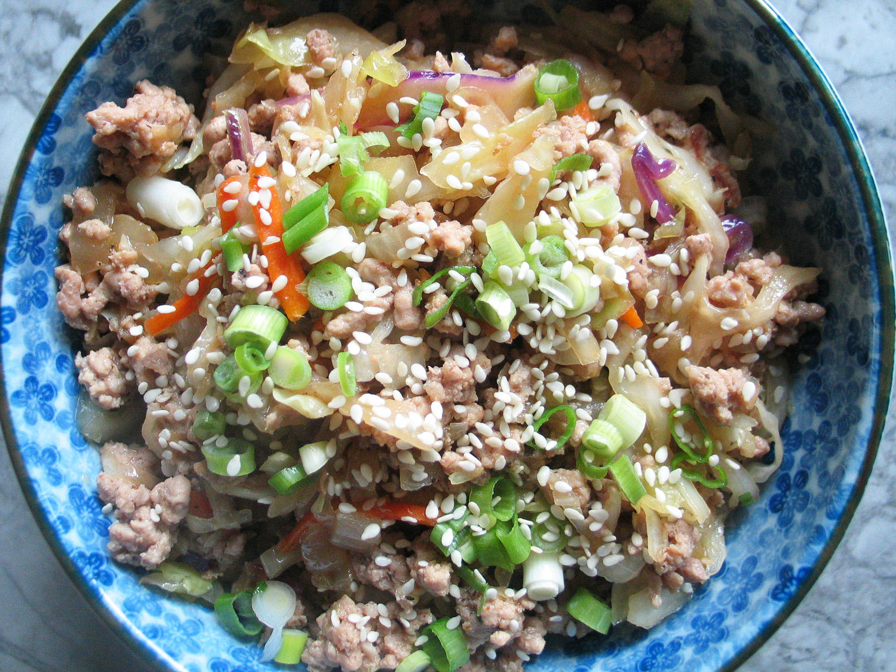 Pork Egg Roll In A Bowl