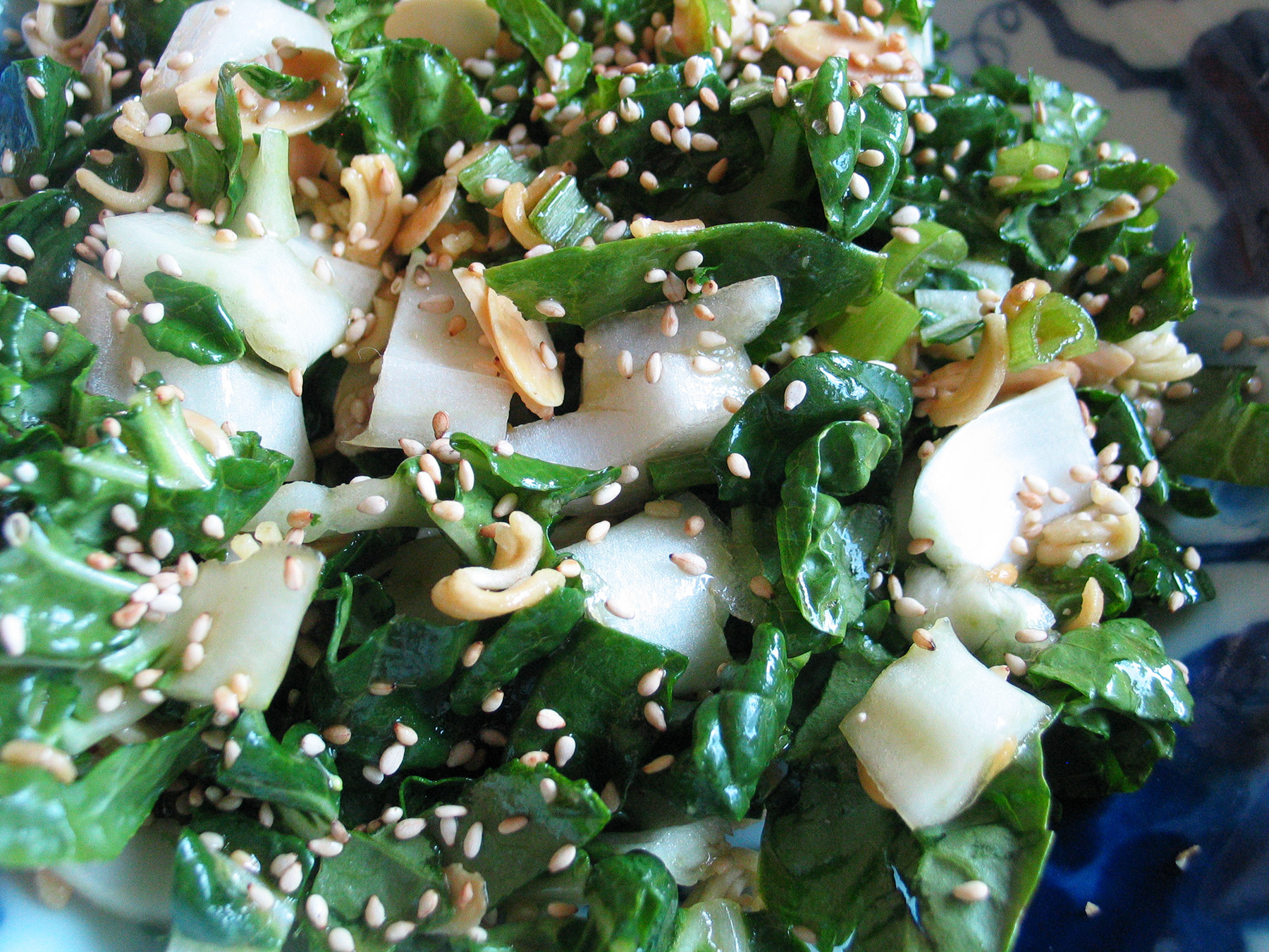Baby Bok Choy Salad (with Sesame Dressing)