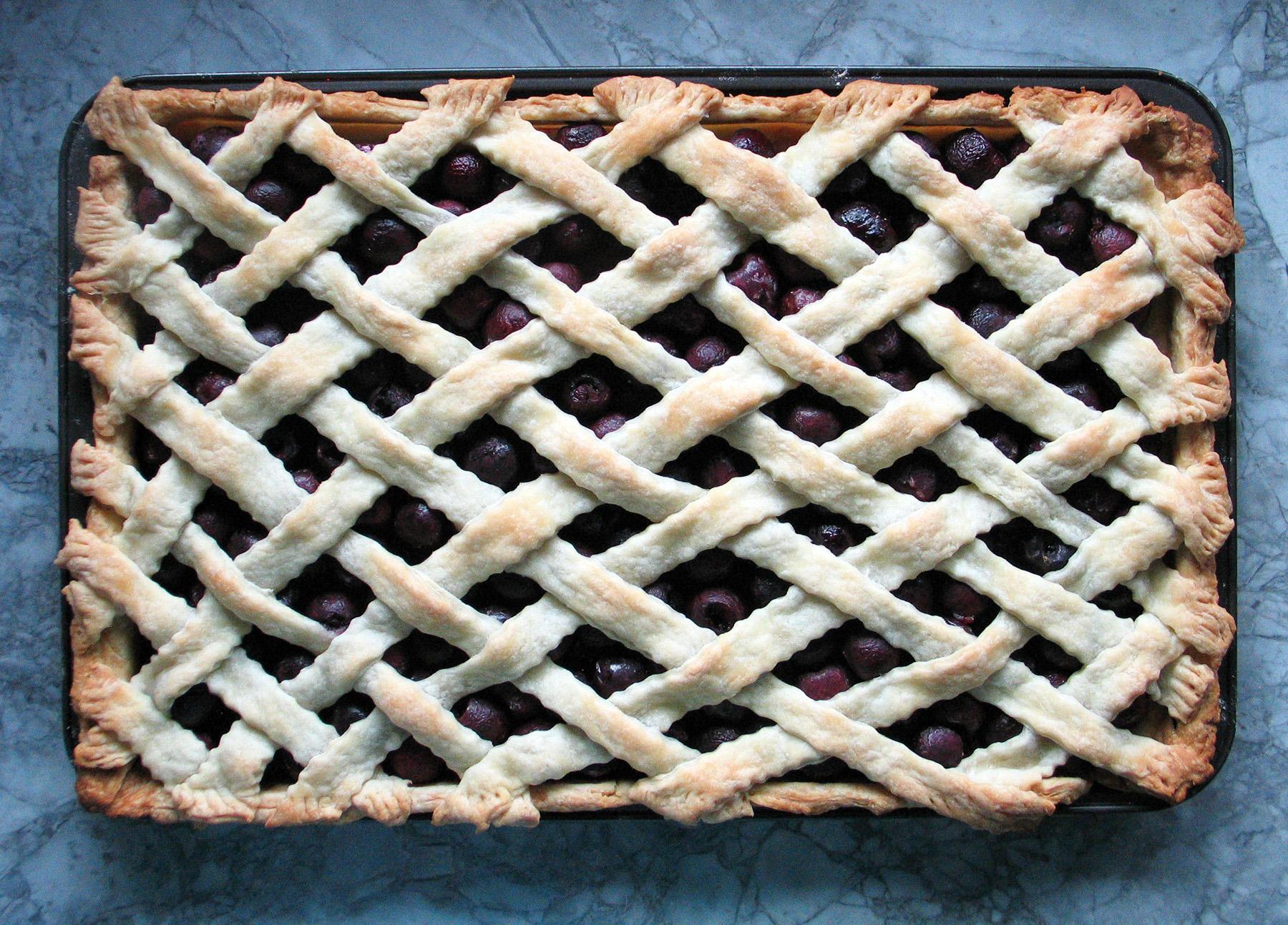 Sweet Cherry Sheet Pan Pie