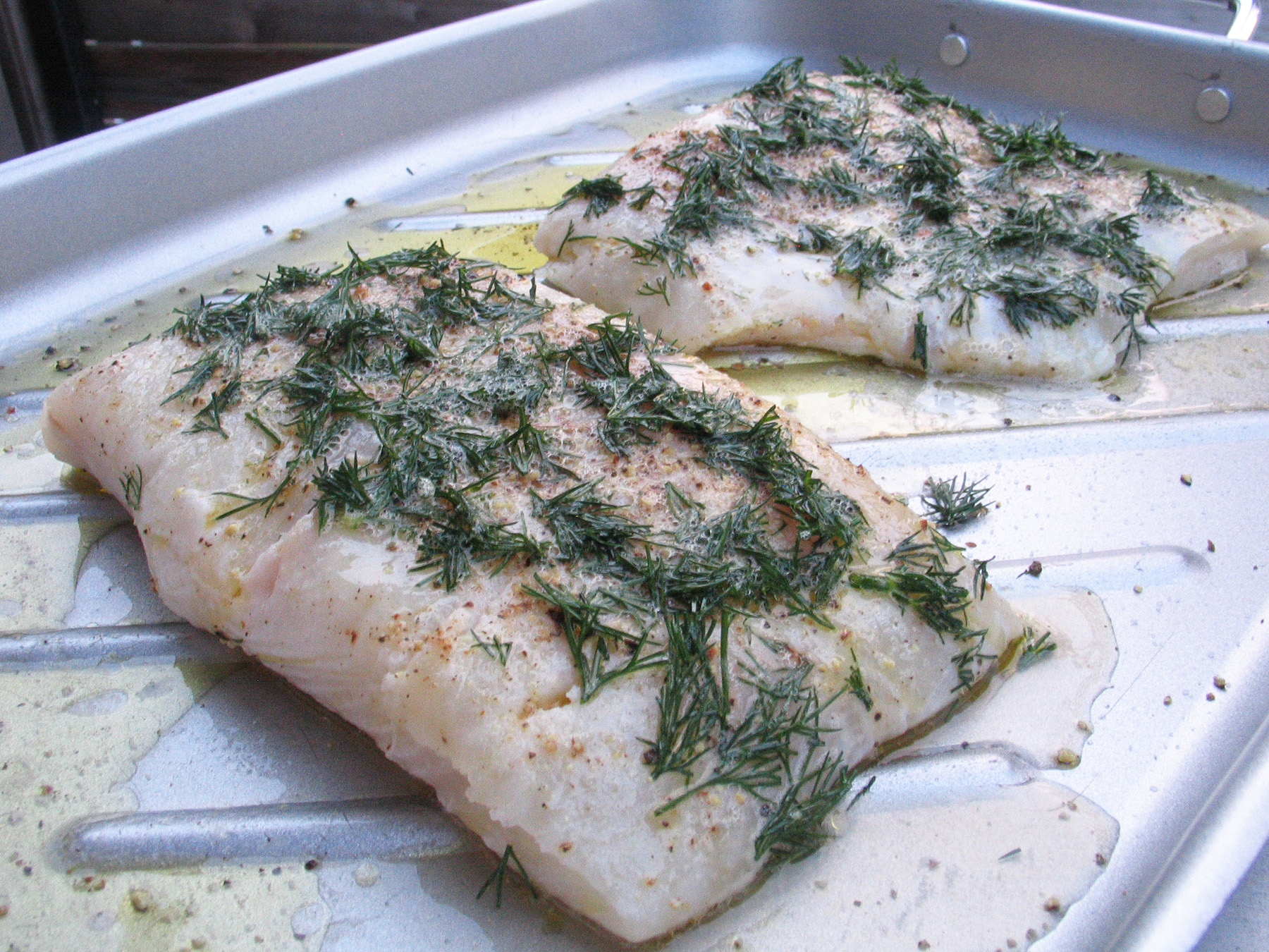 Dilled and Grilled Halibut