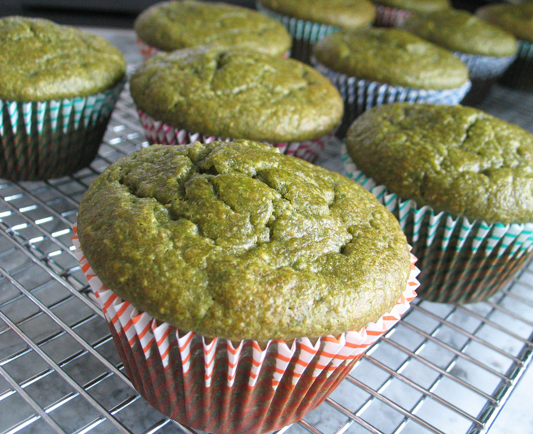Oatmeal Green Smoothie Muffins