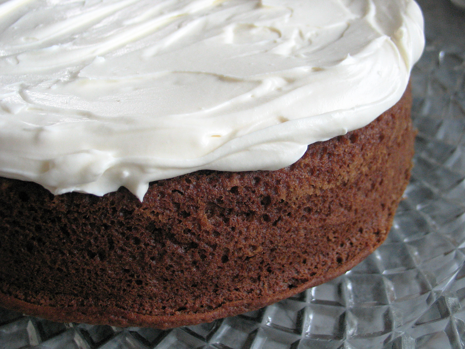Applesauce Cake (with Cream Cheese and Honey Frosting)