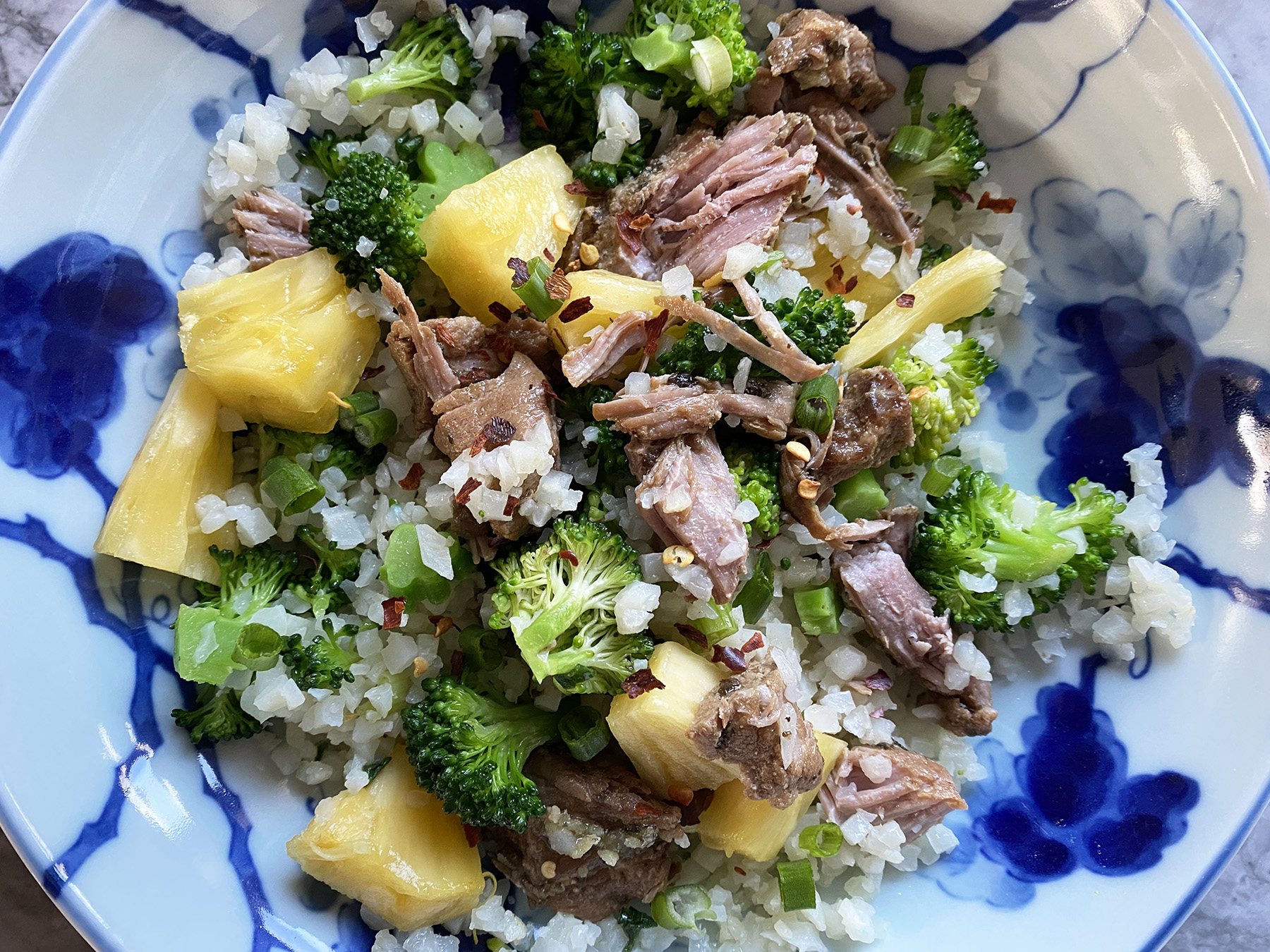 Spicy Pineapple Pork (Pressure Cooker)