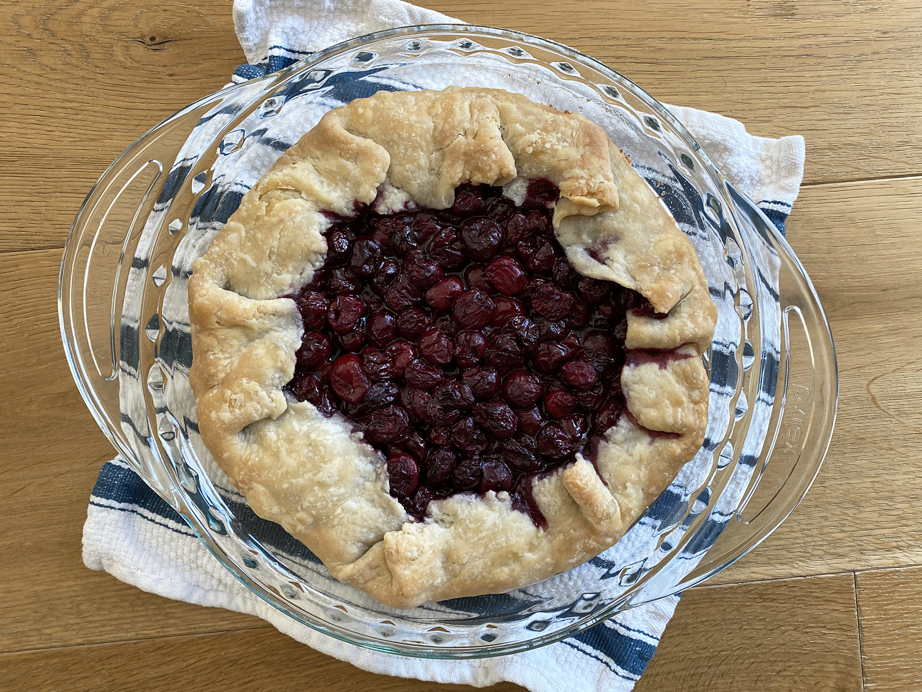 Quick Sour Cherry Galette
