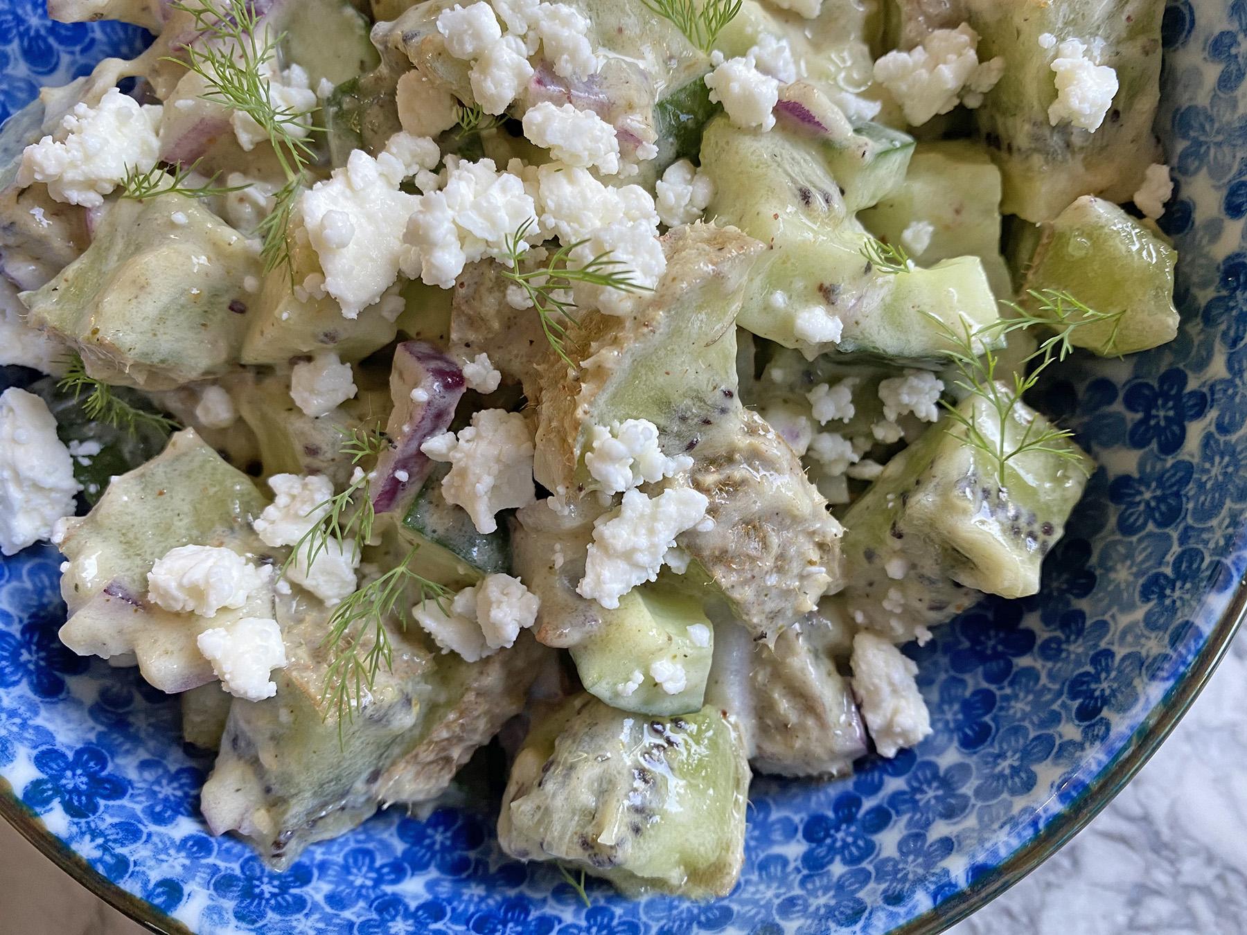 Kiwi and Feta Salad