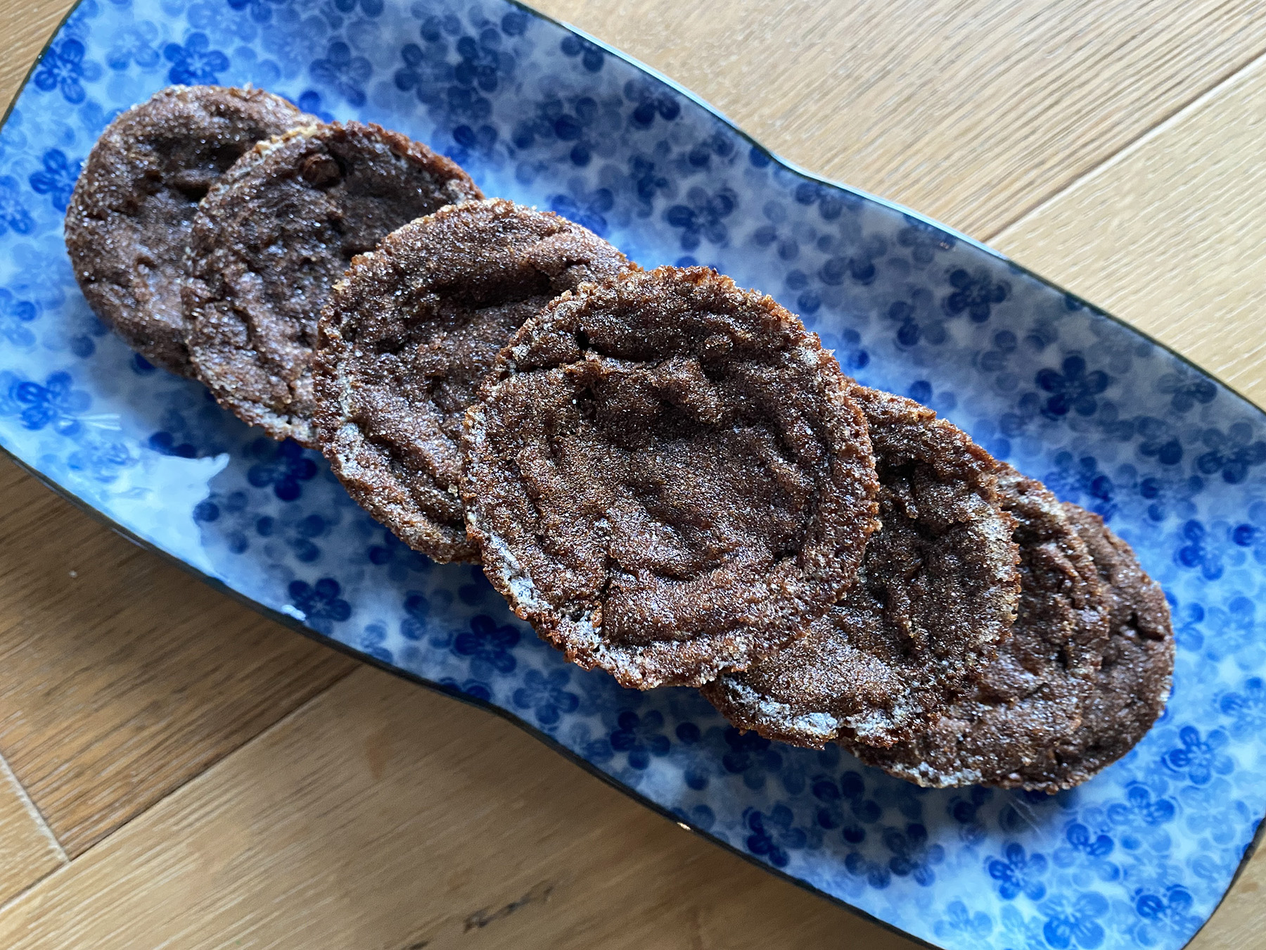Double Ginger, Double Chocolate Molasses (Brownie) Cookies