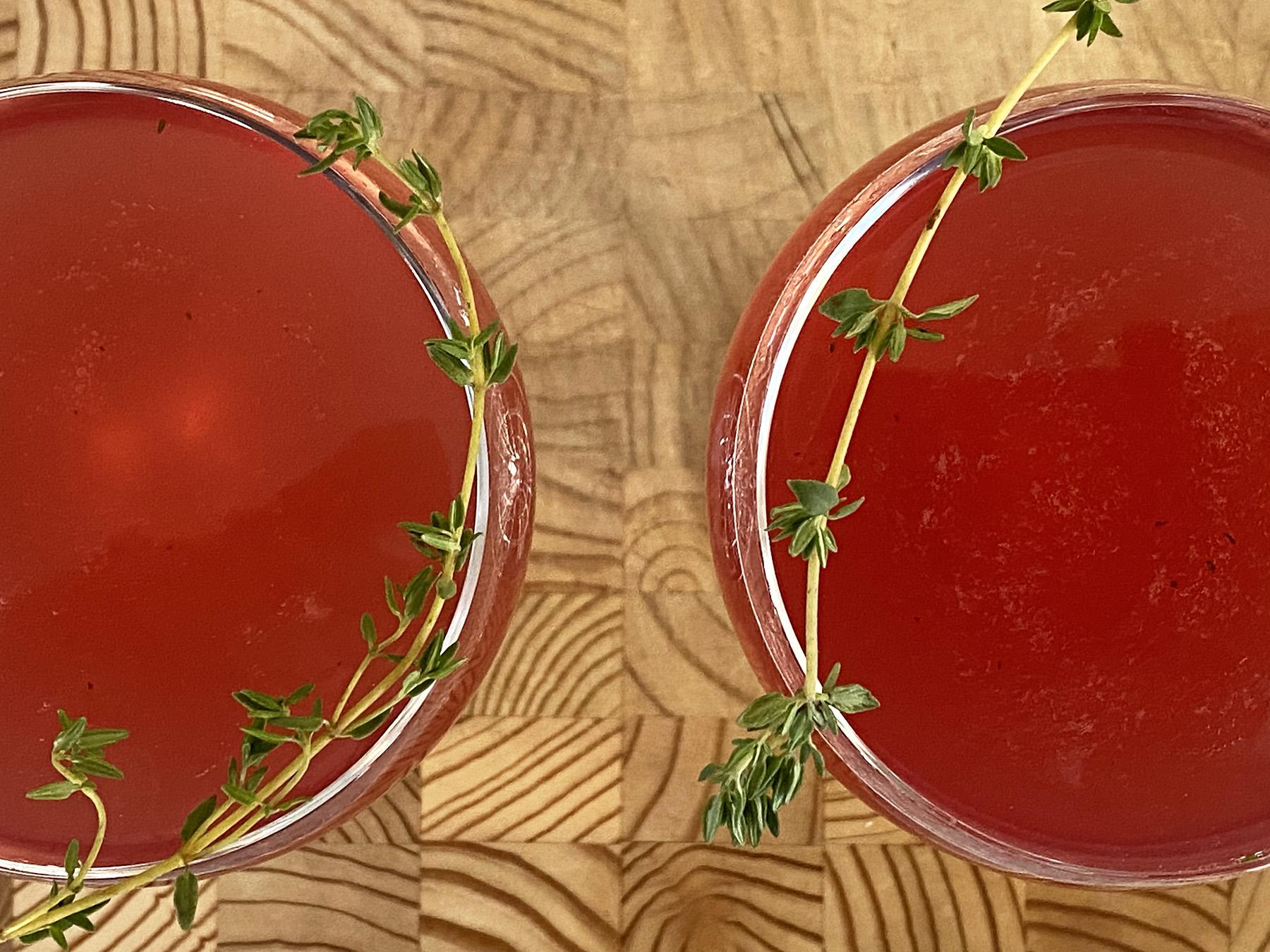 Pomegranate Tequila-Thyme Spritz