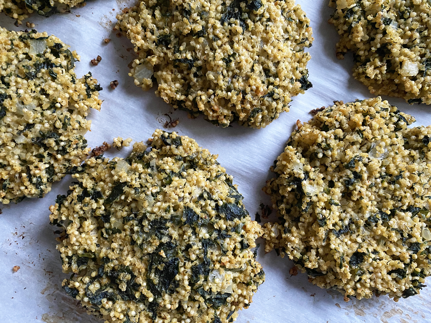 Millet and Kale Fritters