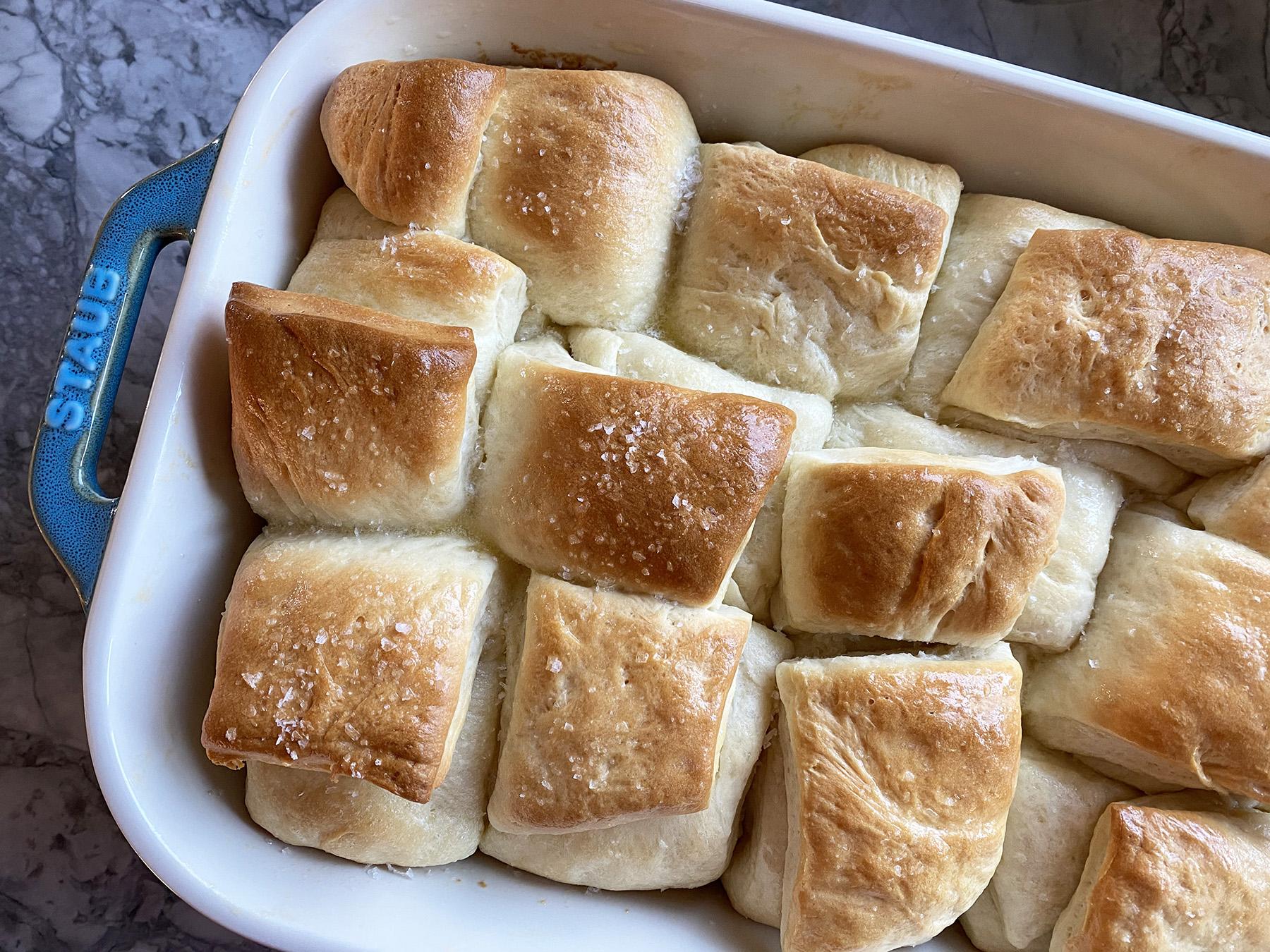 Easy Folded Dinner Rolls