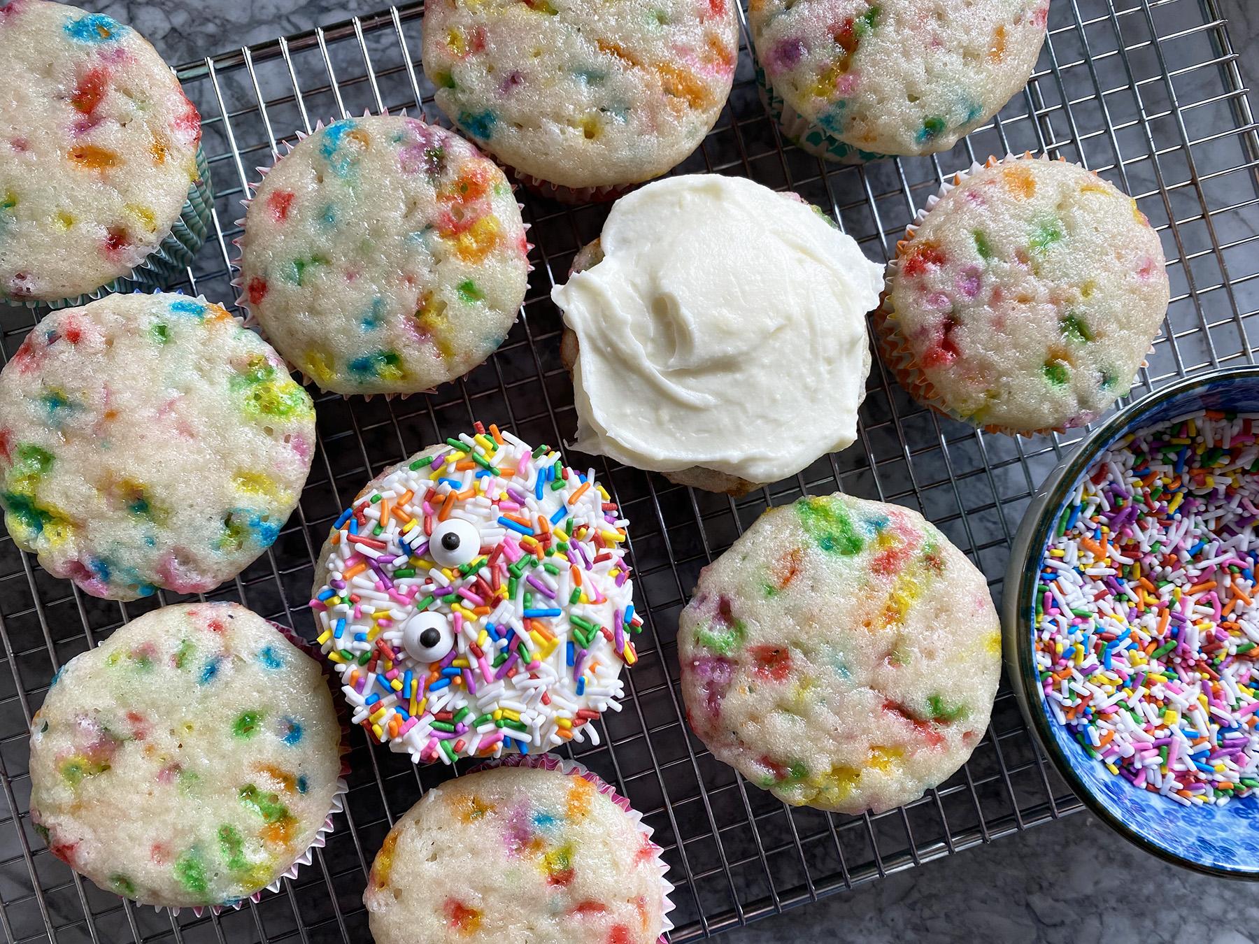 Confetti Cupcakes (Lactose-Free)