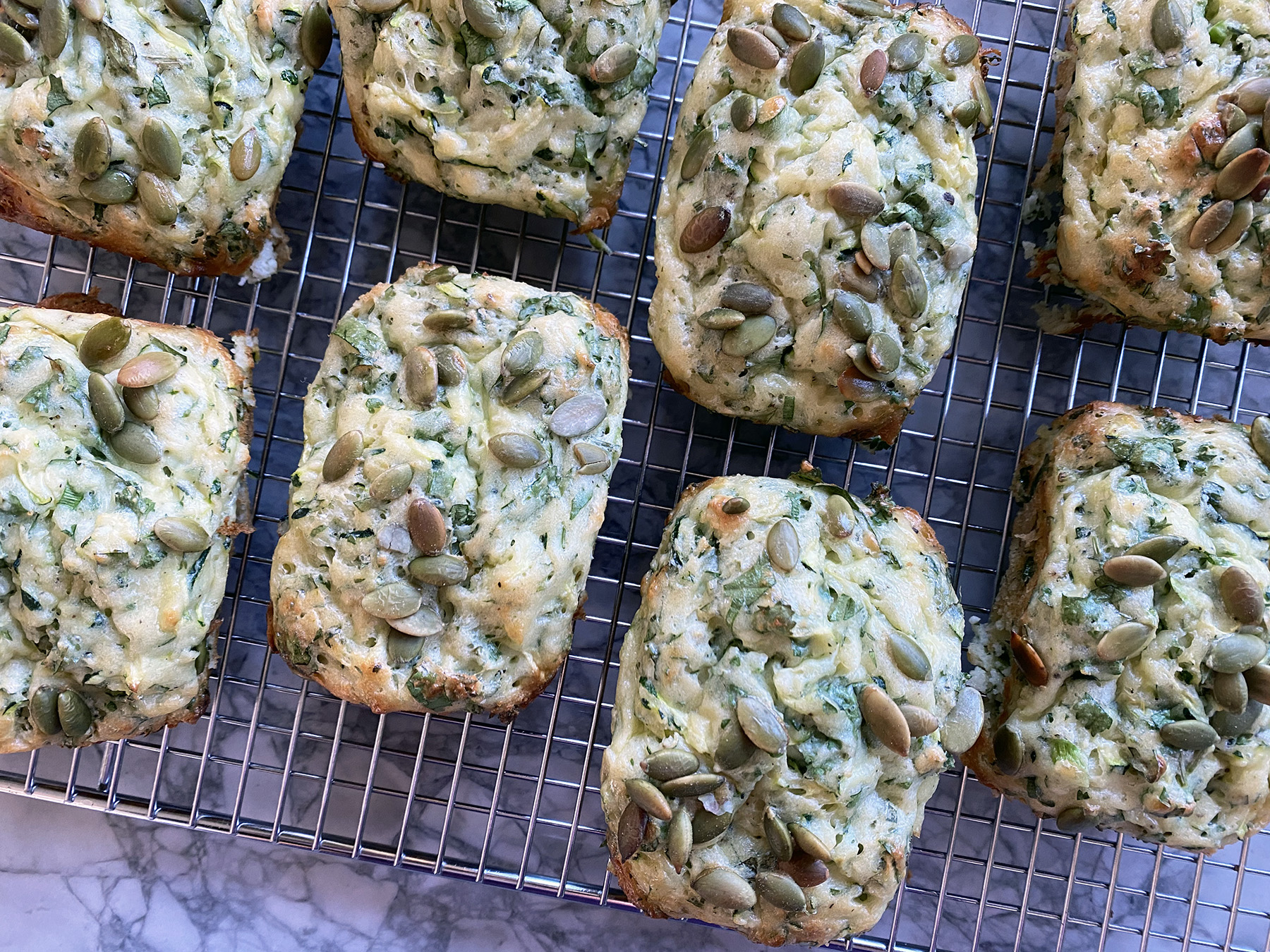 Herby Ricotta and Zucchini Muffins
