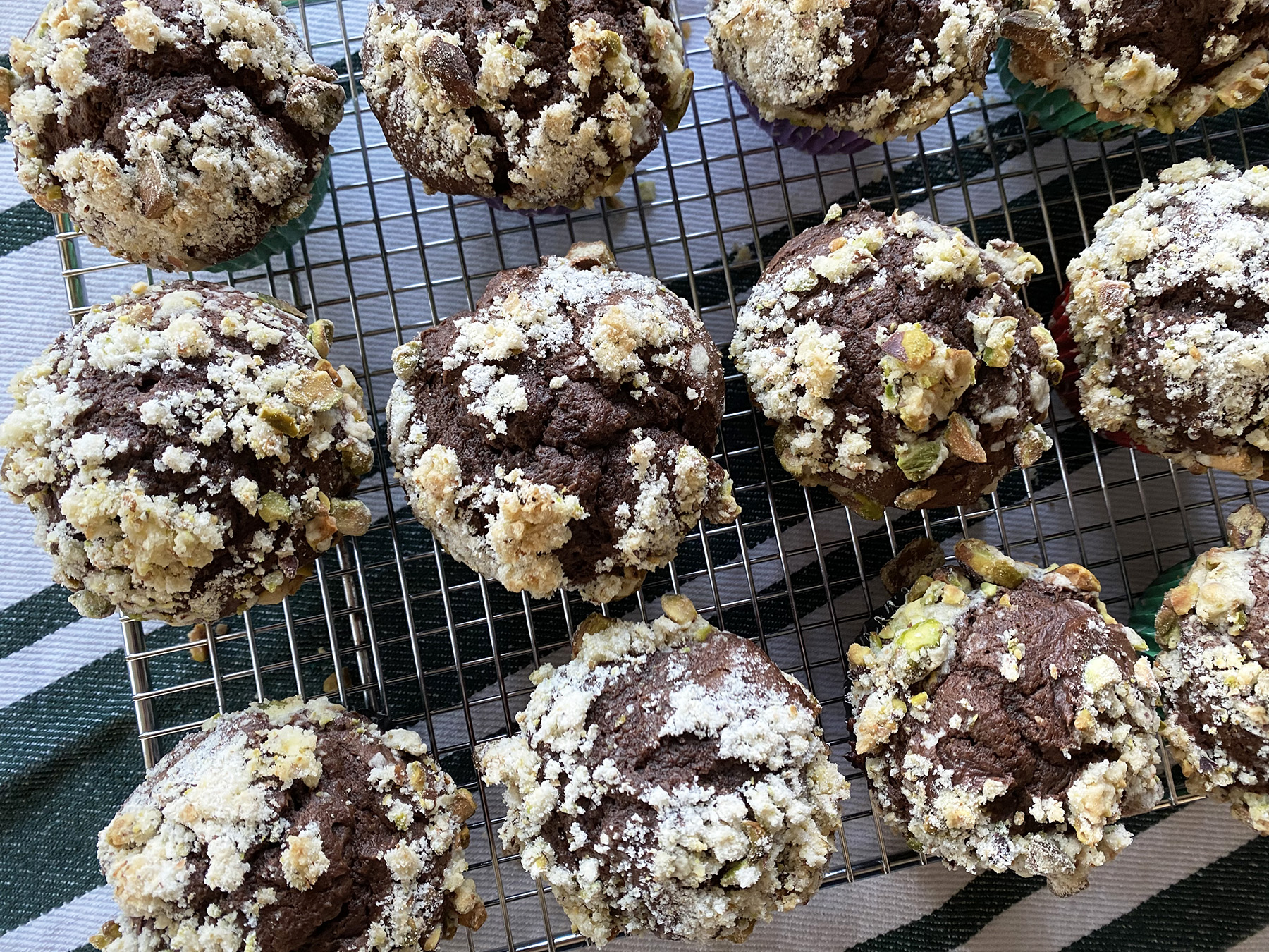 Dark Chocolate Pistachio Cream Cheese Muffins (Cupcakes!)