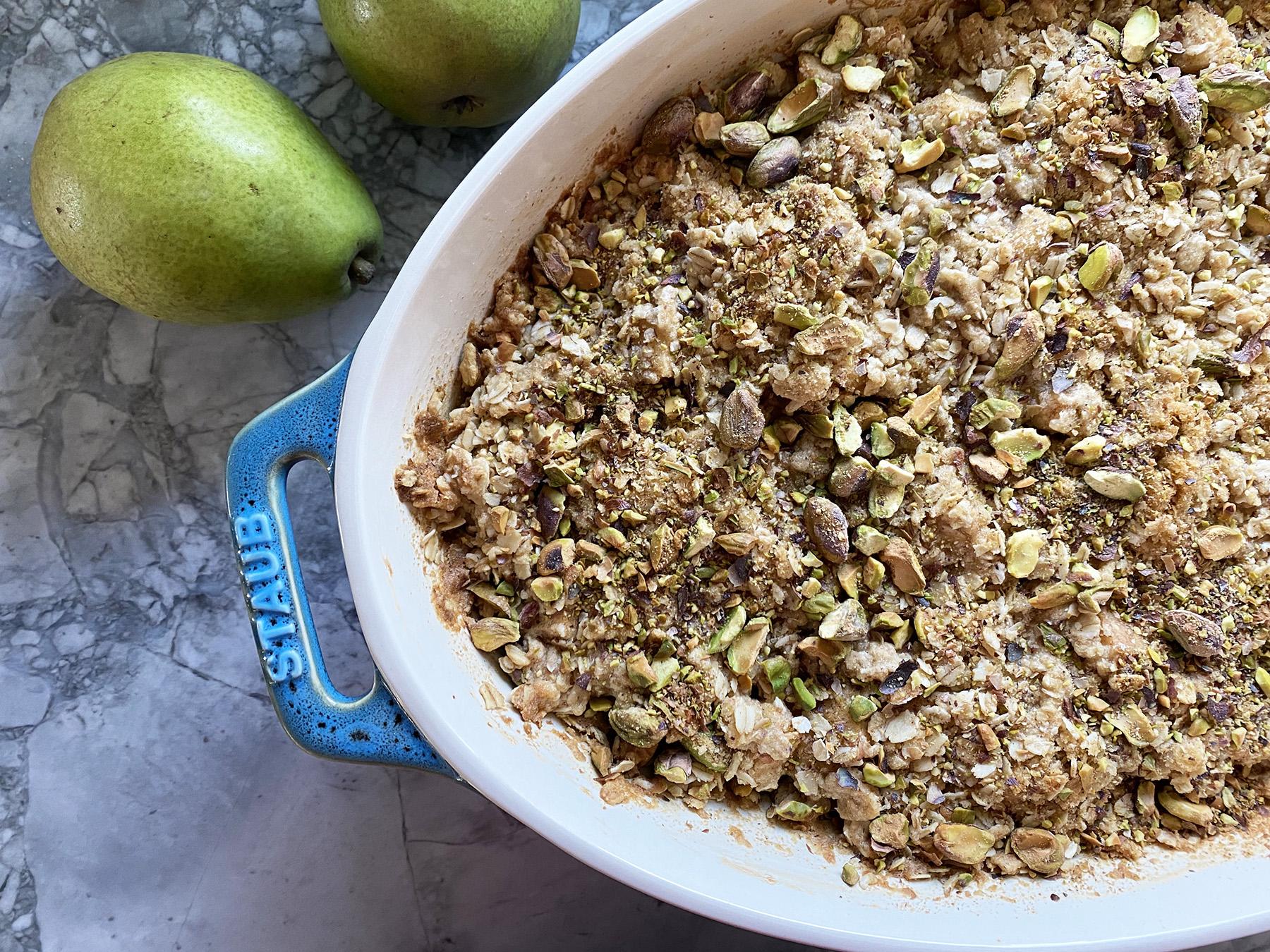Pear Pistachio Crisp