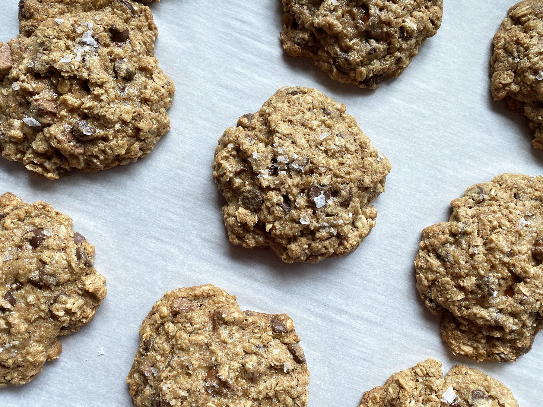 Whole Wheat Chocolate Oat Cookies