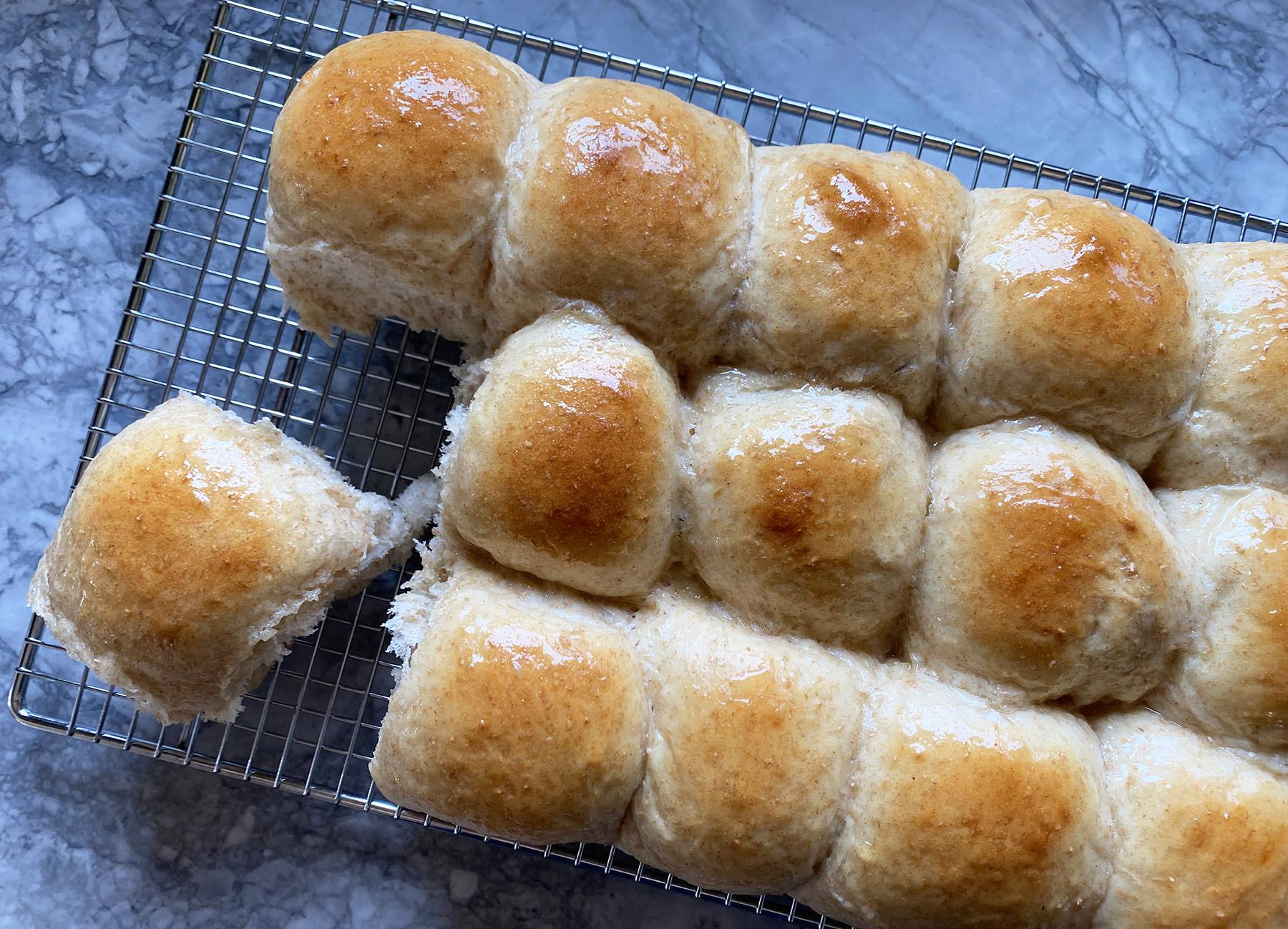 Honey-Wheat Dinner Rolls